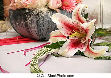 orchid arrangement - Pink orchids