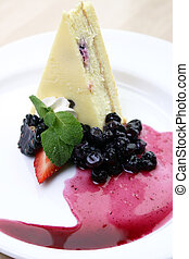 Wildberry Cheesecake - Wildberry cheesecake served with...