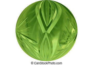 glass button - green glass button