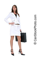 Woman Business Suit - Beautiful Young Business Woman in...