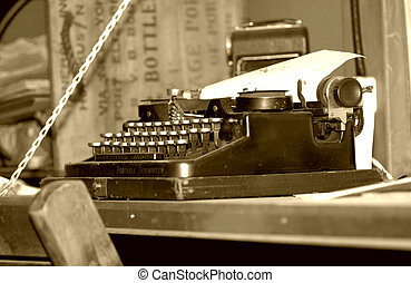 Vintage Typewriter - Photo of a Vintage Typewriter