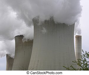 Cooling Towers - Cooling towers of a coal powerplant...
