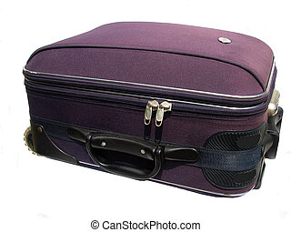 suitcase horizontal - purple baggage