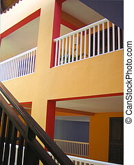 interior - balconies, banisters and stairways