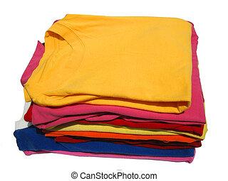tshirts - stack of cotton tshirts
