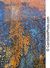 rusted corroded back - abstract closeup of a heavily decayed...