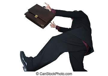happy businessman - Picture of a businessman jumping with...