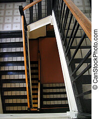stairwell - the stairwell in a Montreal apartment building