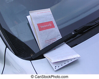Parking Ticket - a Montreal parking ticket on the windshield...