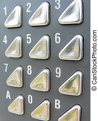 your numbers up - Electronic Keypad shot in macro from side.