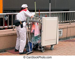 limpieza, trabajador