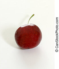 Single cherry - One single cherry upclose with macro
