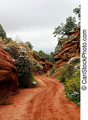 Back Country Road - Hiking Trail through Red Canyon Park