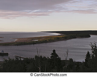 Sunrise over St Lawrence River - Sunrise over peaceful beach...
