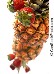 Pineapple Strawberry - Pineapple and strawberry display