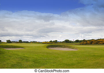 15th Hole - World Famous Carnoustie Golf Course, scotland