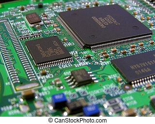 Circuit Board - Printed circuit board on a graphics card