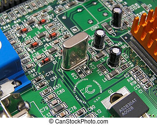 Circuit Board - A printed circuit board on a graphics card