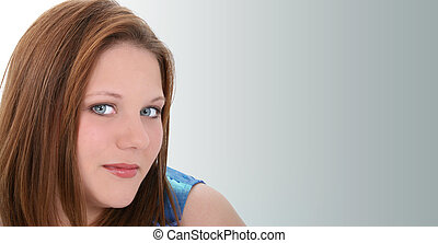 Woman Casual Face - Beautiful Twenty Year Old Young Woman....