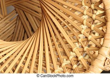 spin on wicker - spiral wicker pattern