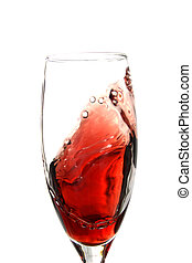 Red Wine Swirl - Red wine in movement in glass
