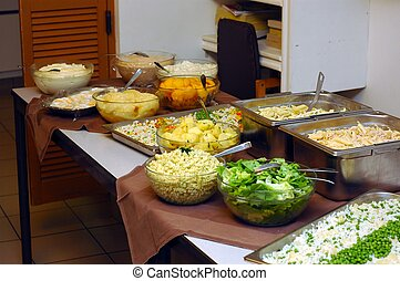 Salad Bar. - Healthy food, various salads.