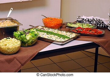Salad bar 2 - Cold salads, healthy food