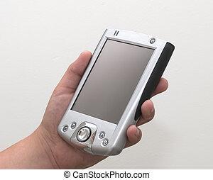 Palmtop computer in hand