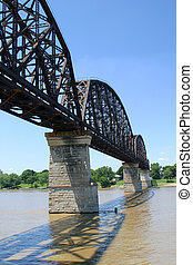 Railroad Bridge 2 - a vertical view of a railroad bridge...