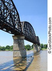 Railroad Bridge 2 - a vertical view of a railroad bridge...