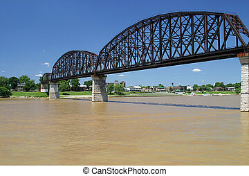 Railroad Bridge 1 - an old railroad bridge across the ohio...