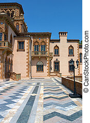 Palazzo Floor - A vertical view of a beautiful,...