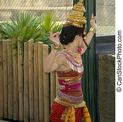 Asian Dancer - This is a shot of a dancer in an Asian style...