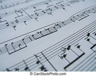 Lets the music pla - Musical notation close-up