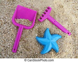 On the beach - Children beach toys
