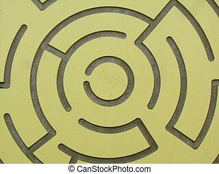 Yellow labyrinth - A labyrinth, symbol of search, find,...