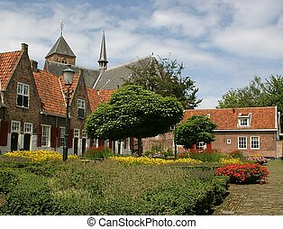 Village square - Village in Holland