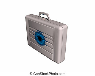 Briefcase from side - An isolated picture of a briefcase