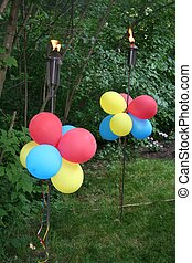 Tochas, balões