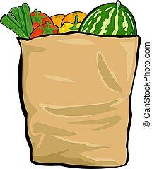Groceries - bag of groceries