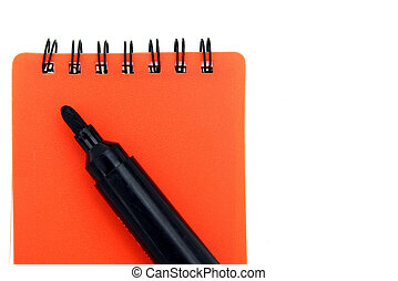 Red Notepad - Red notepad and pen