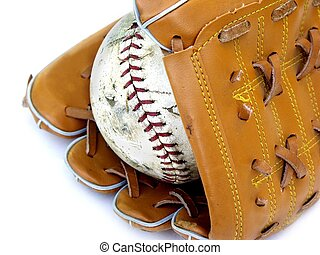 glove and ball - different view of a glove and ball