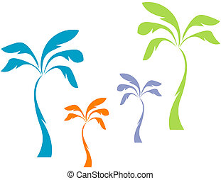 Pastel Palms - Trendy pastel palm trees for Spring, Summer,...
