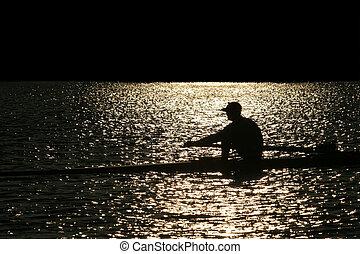划船, 單獨