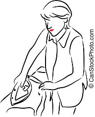 Lady Ironing - household chores