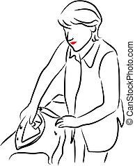 Lady Ironing - household chores