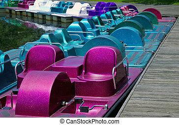 Paddle Boats - Docked Paddle Boats
