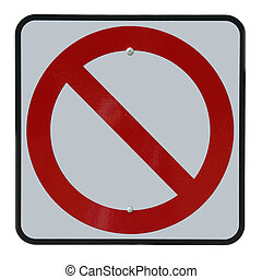 No Symbol - Close up of no entry sign