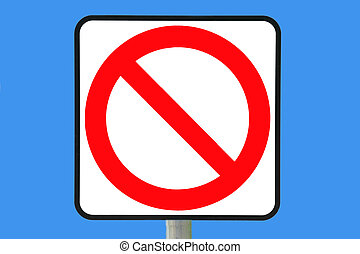 Not Allowed - No entry sign computer color filled