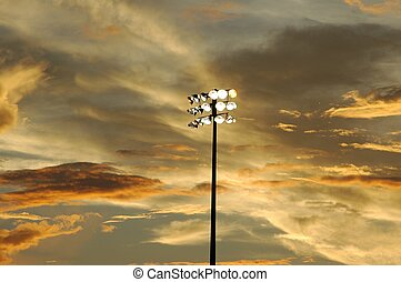 Stadium Lights - Photographed stadium lights at dusk local...